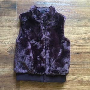 Gymboree Purple Faux Fur Vest